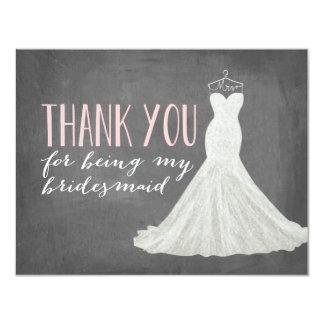Het bruidsmeisje dankt u het Bruidsmeisje van   10,8x13,9 Uitnodiging Kaart