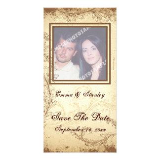 Het bruine beige huwelijk van het rolblad bewaart kaart