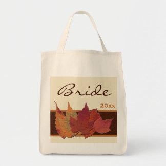 Het bruine Canvas tas van de Bruid van de Bladeren