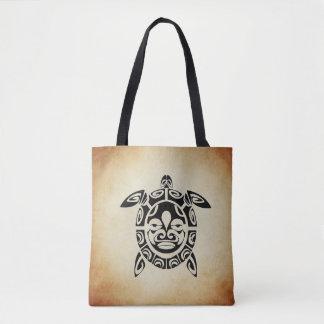 Het bruine Canvas tas van de Schildpad van het Zee