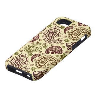 Het bruine en Beige Vintage Elegante Patroon van P Tough iPhone 5 Hoesje