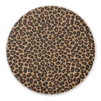 Het Bruine en Zwarte Patroon van de luipaard Keramische Knop