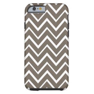 Het bruine grijze capricieuze patroon van de tough iPhone 6 hoesje