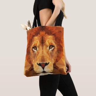 Het bruine Hoofd van de Leeuw helemaal over het Draagtas