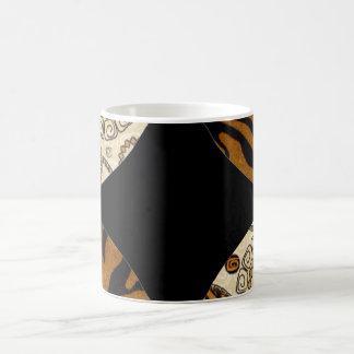 Het bruine Ontwerp van het Patroon van de Druk van Koffiemok