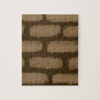 Het bruine Patroon van Bakstenen Puzzel