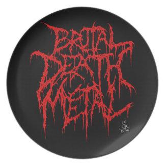 Het brutale Metaal van de Dood Melamine+bord
