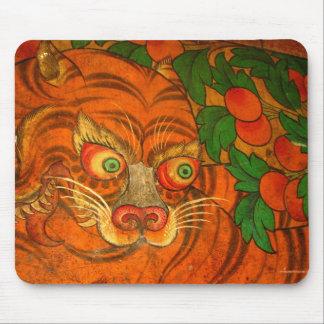 Het buigen van tijger mousepad muismatten