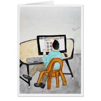 Het bureau van de Computer Kaart