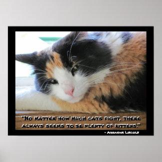 Het Calico van Flirty met het citaat Meme van Poster