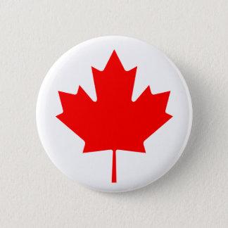 Het Canadese Blad van de Esdoorn Ronde Button 5,7 Cm