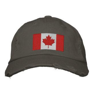 Het Canadese Pet van het Honkbal van de Vlag Geborduurde Pet