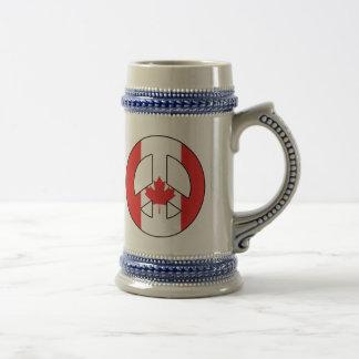 Het Canadese Teken van de Vrede Bierpul