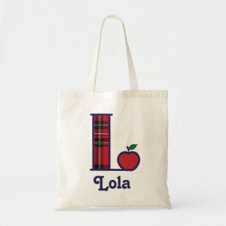 Het Canvas tas Aanvankelijk L van het Monogram van