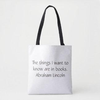 Het Canvas tas van Abraham Lincoln