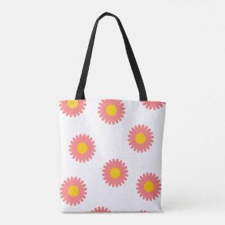 Het Canvas tas van Daisy Flower