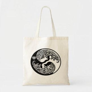 Het Canvas tas van de Boom van de Hippie yin-Yang