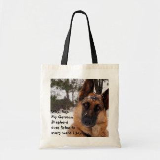 Het Canvas tas van de Duitse herder