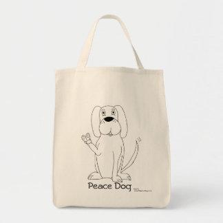 Het Canvas tas van de Hond van de vrede