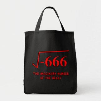 Het Canvas tas van de Humor van de wiskunde