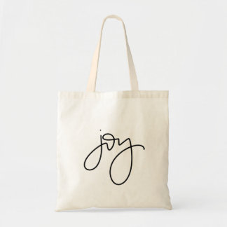 Het Canvas tas van de Kalligrafie van de vreugde