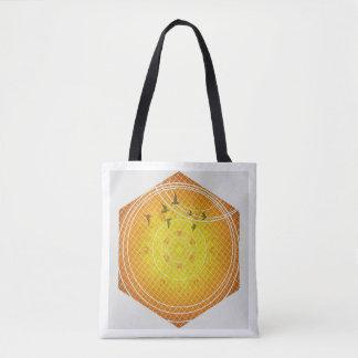 Het Canvas tas van de Meetkunde van de honingraat