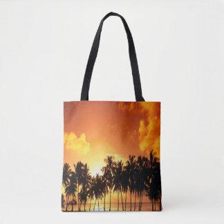 Het Canvas tas van de Palmen van de zonsondergang