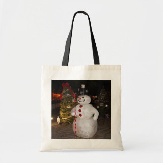 Het Canvas tas van de sneeuwman & van de Kerstboom