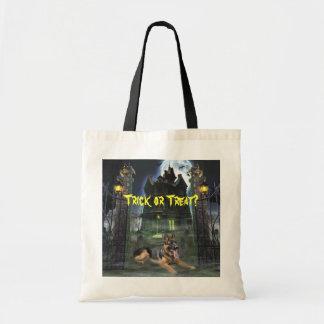Het Canvas tas van Halloween van de Duitse herder