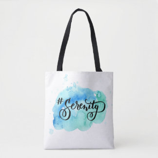 Het Canvas tas van Hashtag # van de Sereniteit