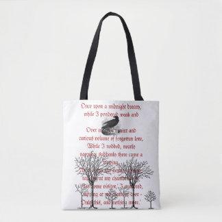 Het Canvas tas van het Gedicht van de Raaf Vintage