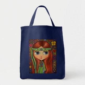 Het Canvas tas van het Meisje van de Hippie van de
