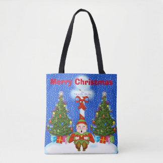 Het Canvas tas van Kerstmis van het Elf van de