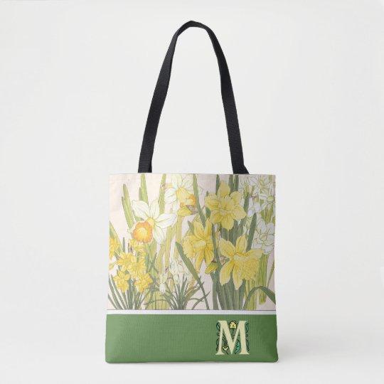 Het Canvas tas van narcissen, van Gele narcissen