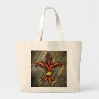 Het Canvas tas van rivierkreeften fleur-DE-Lis