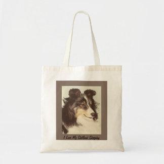 Het Canvas tas van Sheltie
