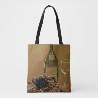 Het Canvas tas van Vino van de wijn