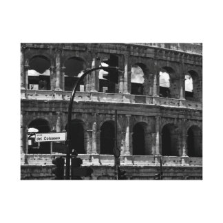 Het Canvas van Colosseum van Rome, Italië - de