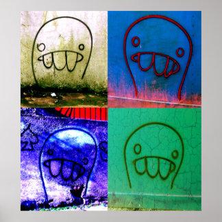 Het Canvas van de Karakters van Graffiti Poster
