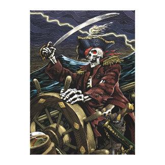 Het Canvas van de Piraat van het skelet
