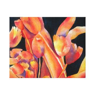 Het Canvas van de Tinten van de zonsondergang Stretched Canvas Afdrukken