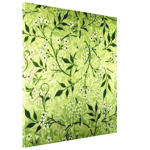 Het canvas van het behang van de jasmijn van morri gallerij wrapped canvas zazzle - Behang van de jaren ...