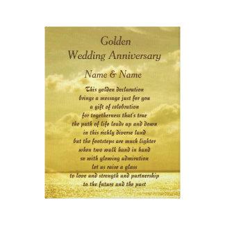 Het canvas van het Jubileum van de gouden bruiloft