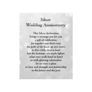 Het Canvas van het Jubileum van de zilveren