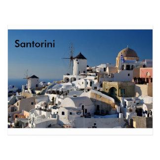 Het Canvas van Santorini Briefkaart