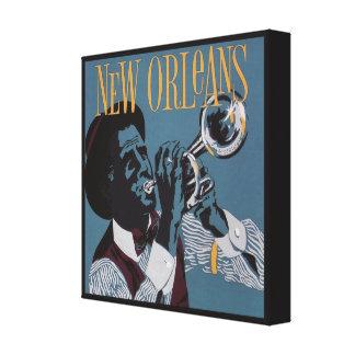 Het canvasdruk van de Muziek van New Orleans Canvas Afdruk