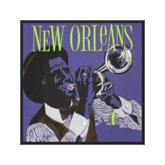 Het canvasdruk van de Muziek van New Orleans Canvas Print