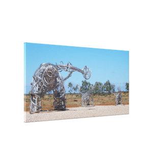 Het canvasdruk van Titanosaurs van Eromanga Canvas Afdruk