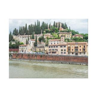 Het canvasdruk van Verona Castel San Pietro Canvas Afdruk