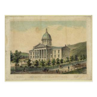 Het Capitool dat van Vermont Montpelier bouwt Briefkaart